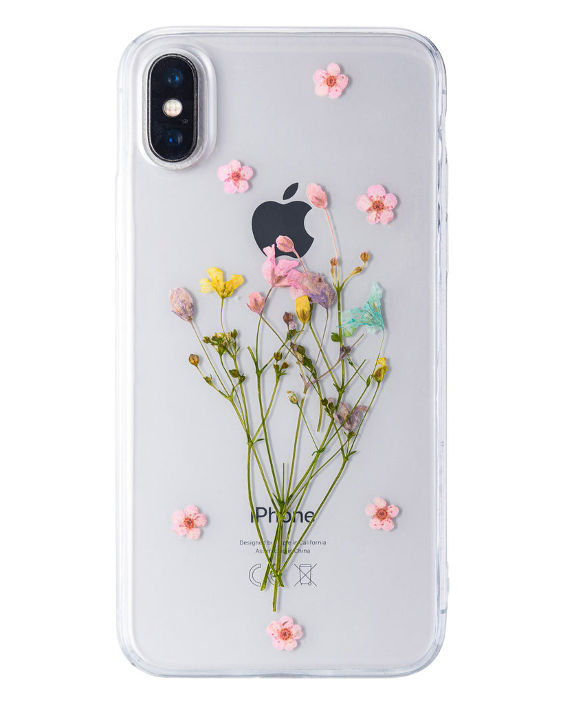 Wildly Free Nalana Cases iPhone X real pressed flower case tpu gedroogde bloemen telefoonhoesje