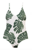 Green Leaf Strappy Scoop Tank