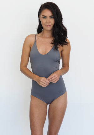 Strappy Scoop Tank in Mako (Low stock)