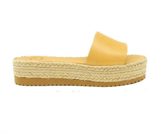 Leather Espadrille Slide (2 options)