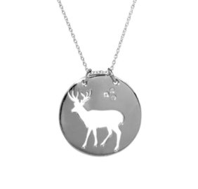 Reindeer Coin Necklace