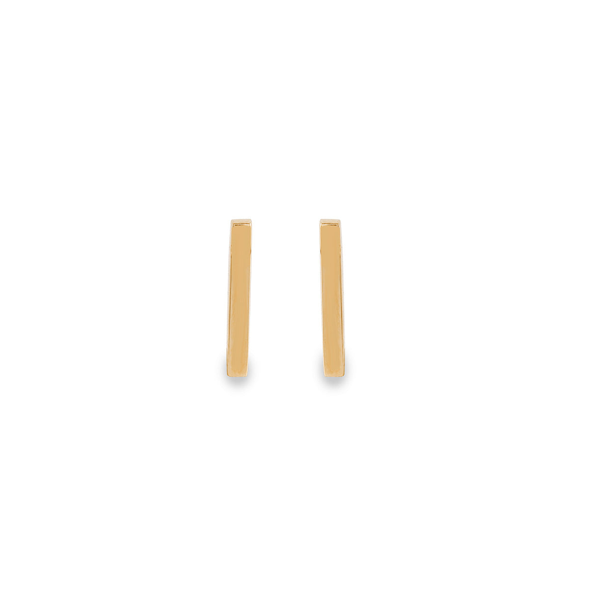 Gold Stick Stud Earrings