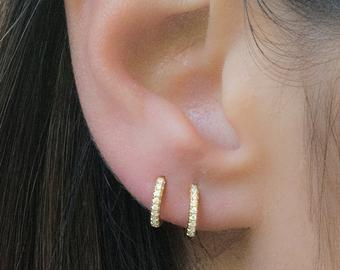 Tiny Huggie Hoop Earrings