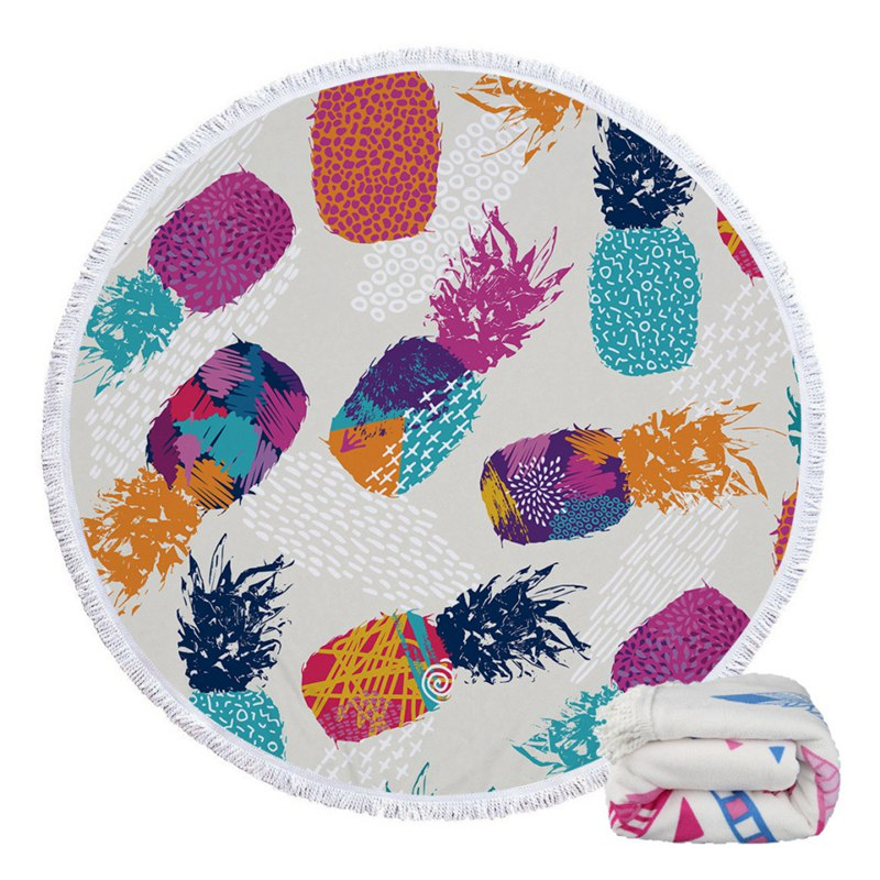 Tropical Round Beach Towels