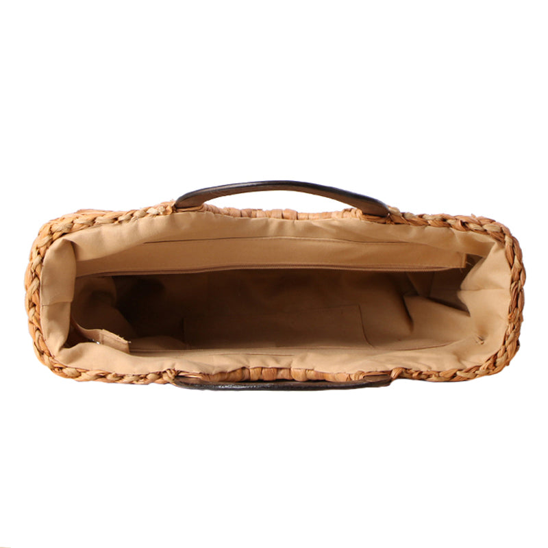 Wicker Ring Handle Tote