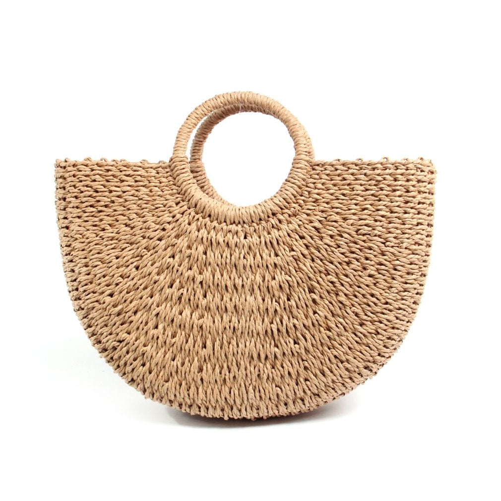 Wicker Poolside Tote