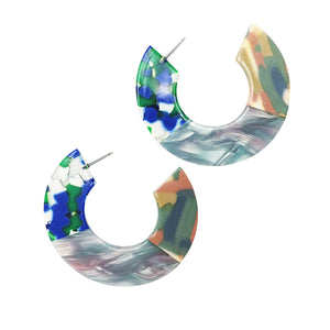 Tropical Graffiti Resin Hoops