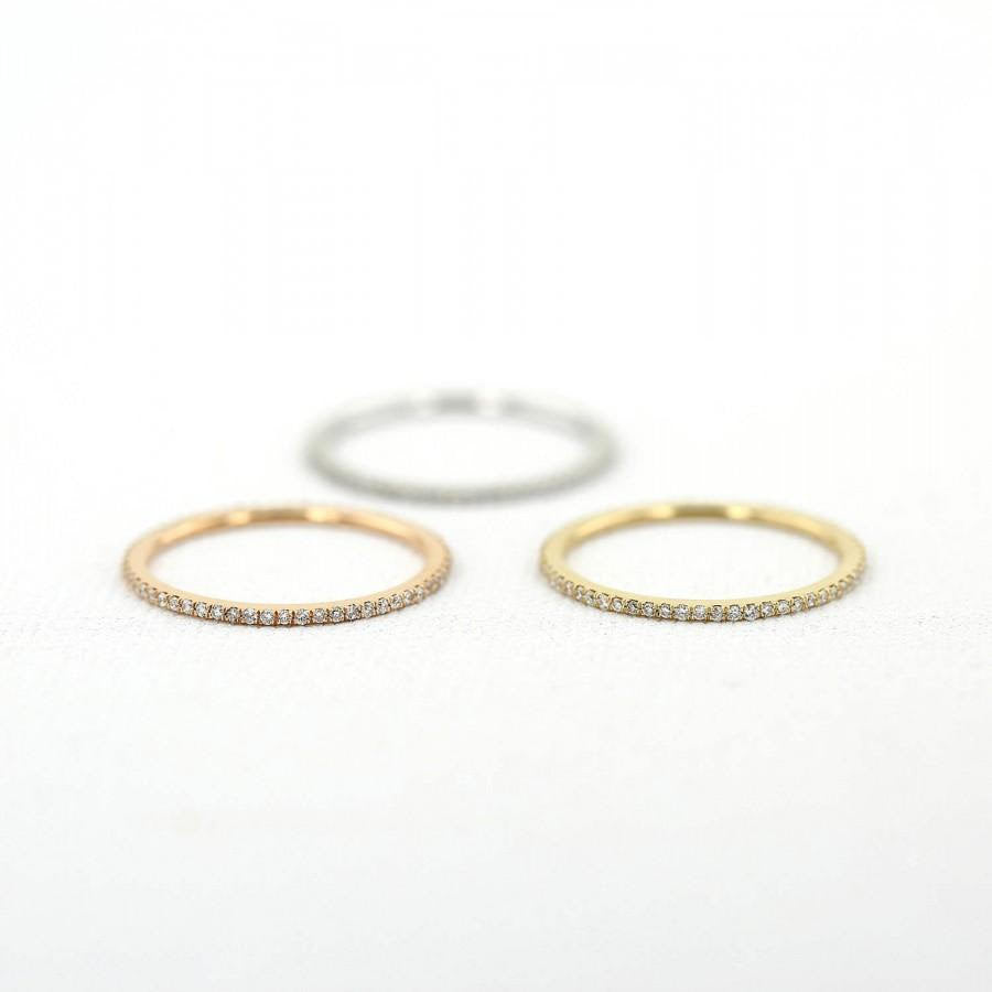 Thin Micro Pave Band