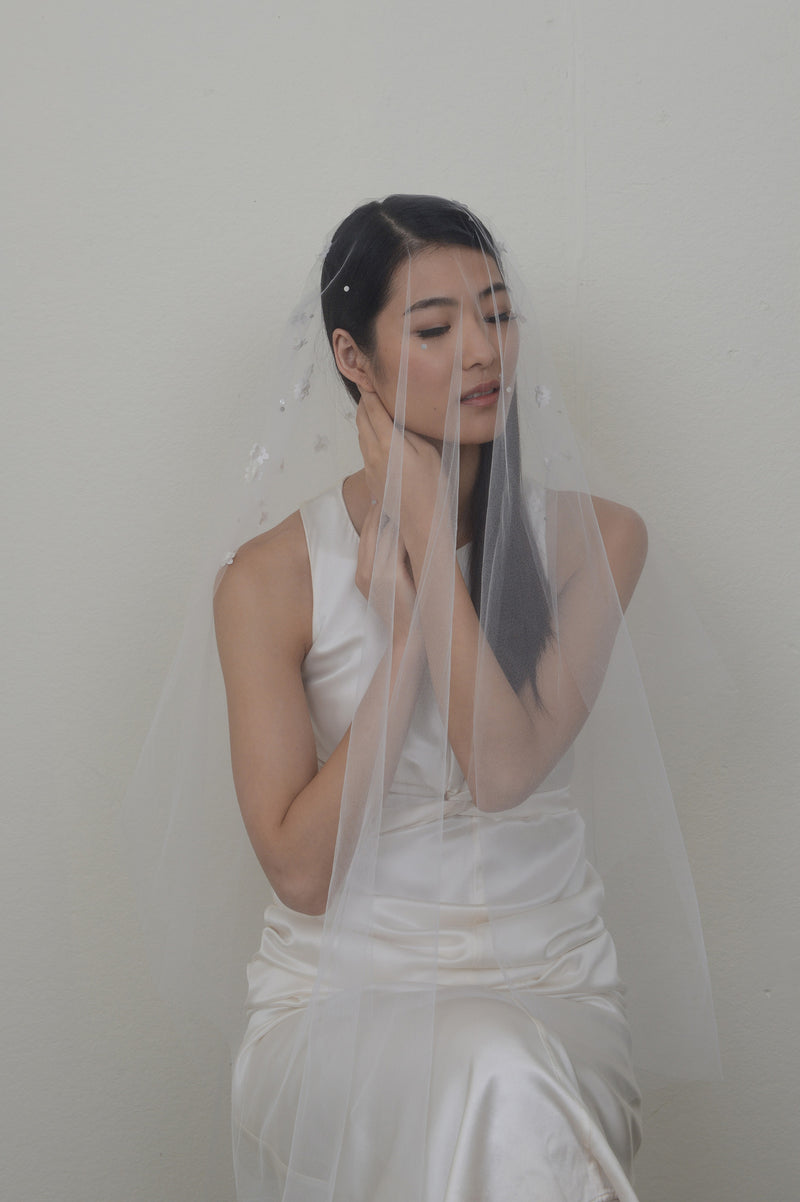 Veil with Petite Blossoms