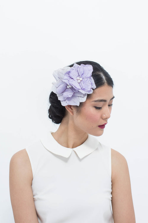 Silk Rosettes in Lilac