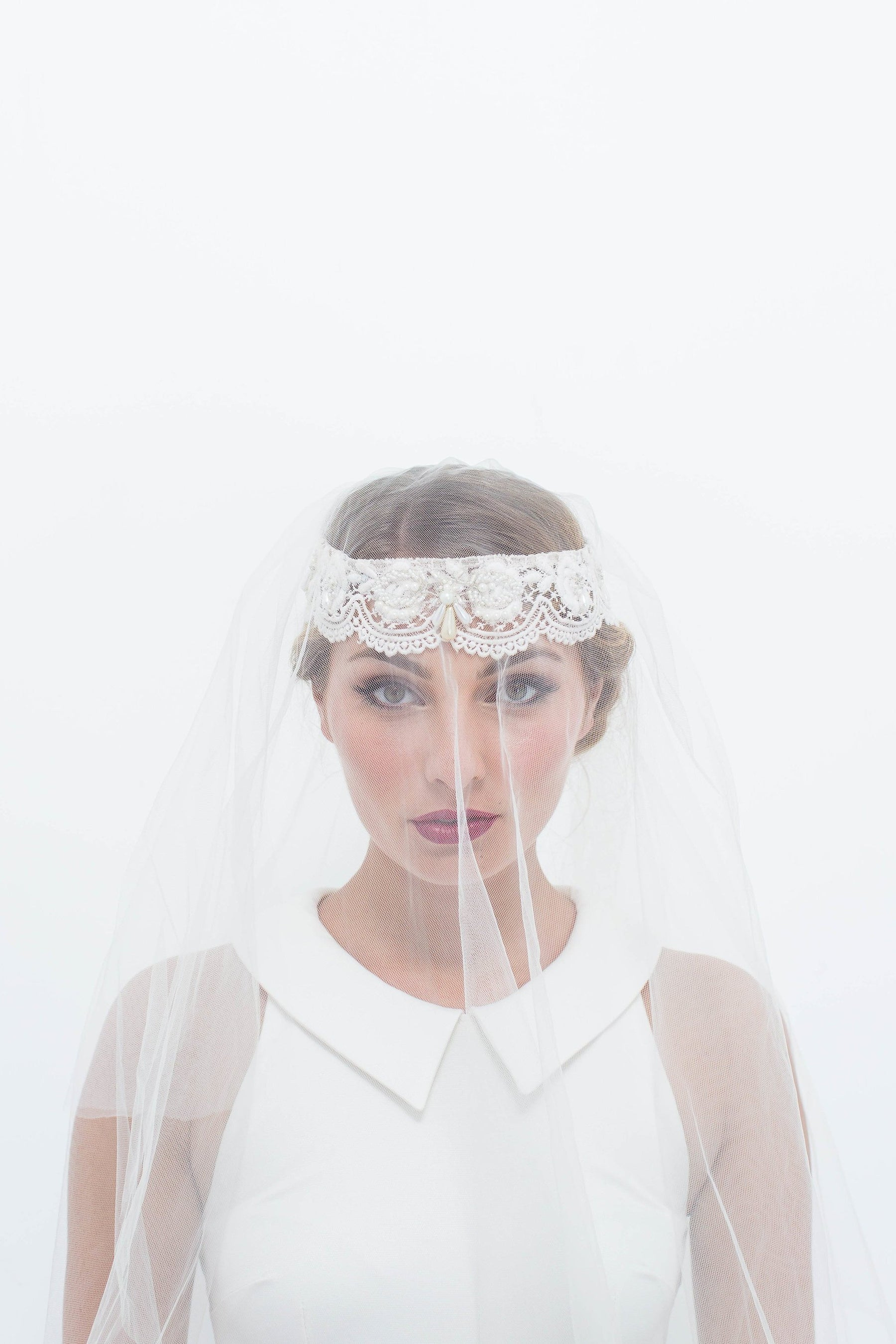 Veil with Lace Headband – Natalie Chan Boutique cf19ac0b949
