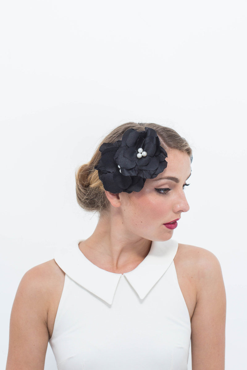 Silk Rosettes in Black