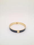 Slim Enamel Bangle in Smoke