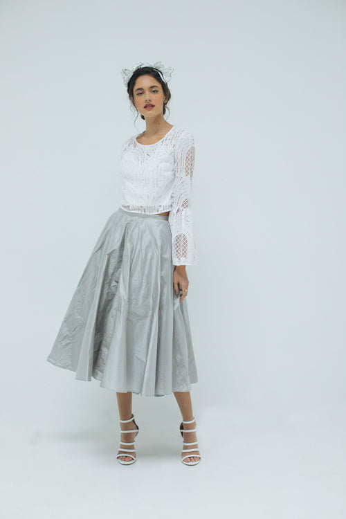 Demi-Opera Skirt in Dove Grey