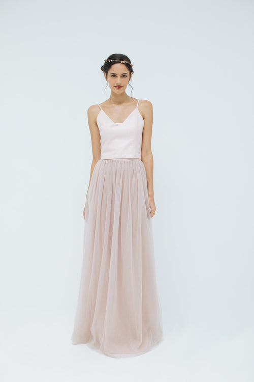 Sylvie Tulle Skirt in Rose Pink (Long)