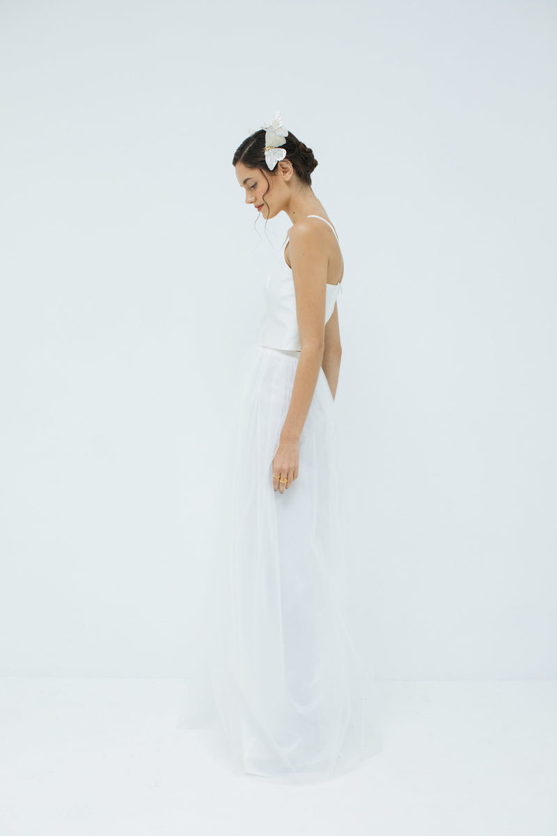 Sylvie Tulle skirt in Ivory (Long)