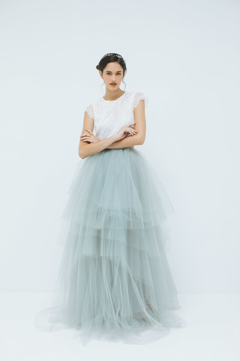 Wilma Tulle skirt in Dove Grey