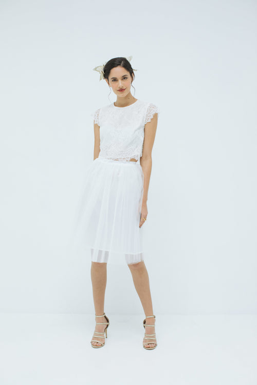 Sylvie Tulle Skirt in Ivory