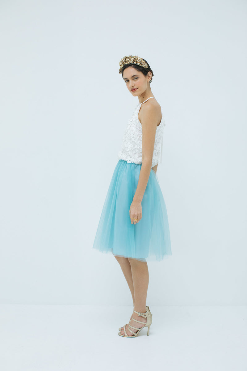 Sylvie Tulle skirt in Tiffany Blue