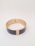 Wide Enamel Bangle in Smoke