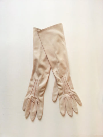 Opera Length Vitage Gloves in Beige