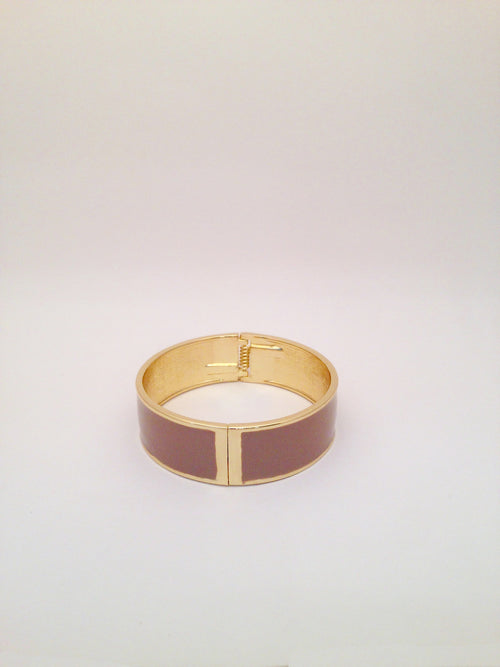 Wide Enamel Bangle in Stone