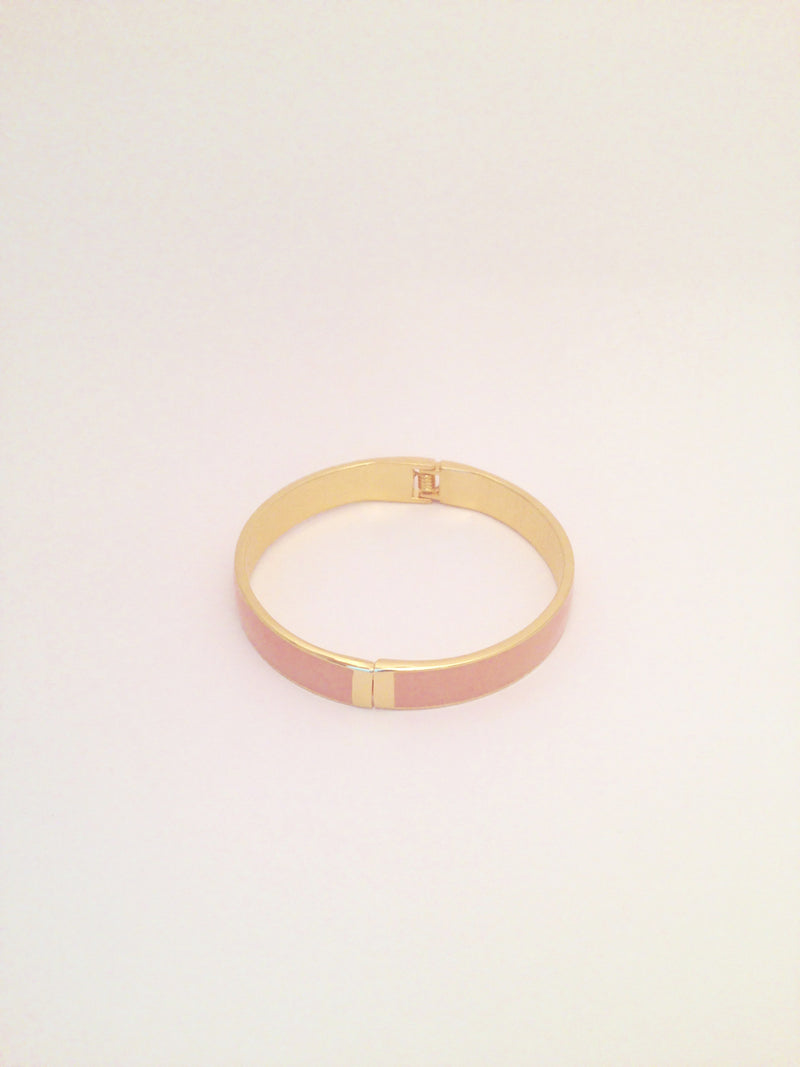 Slim Enamel Bangle in Blush