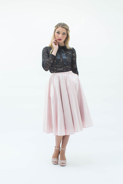 Demi-Opera Skirt in Powder Pink