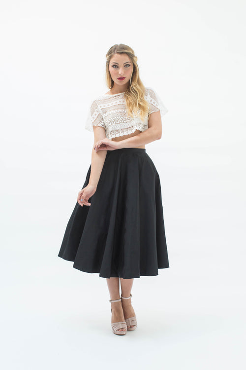 Demi-Opera Skirt in Black