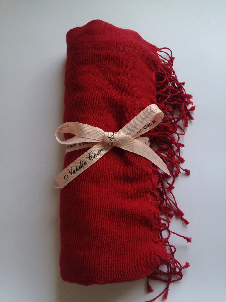 Silk Cashmere Pashmina: Red