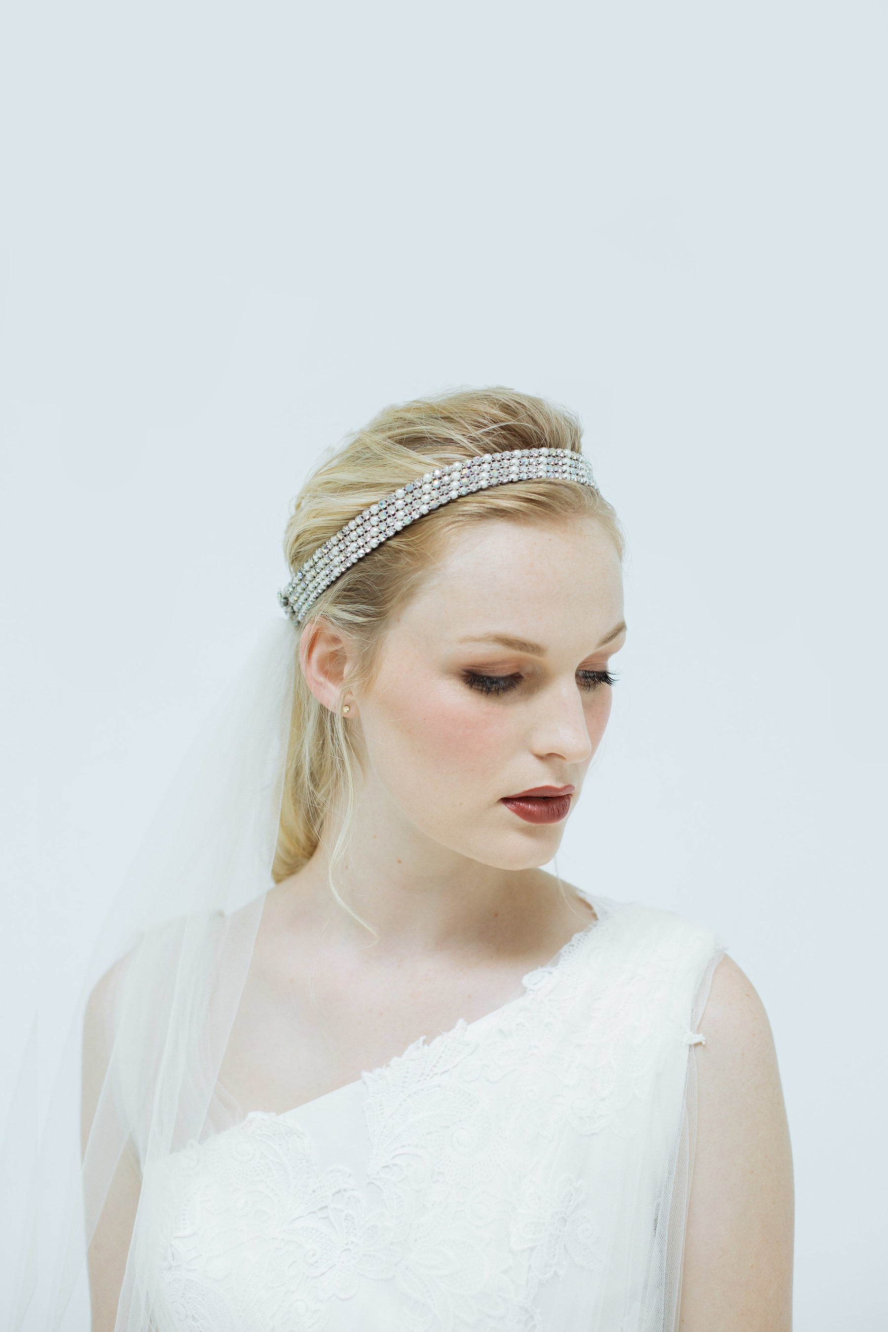 Veil with Crystal Headband – Natalie Chan Boutique d6414a728f9
