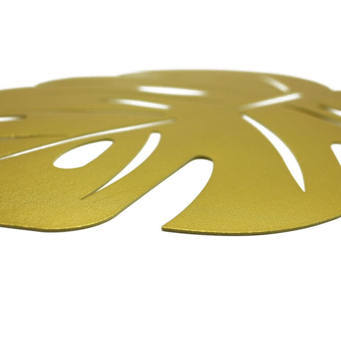 Gold Palm Leaf Place Mats | Set of 6