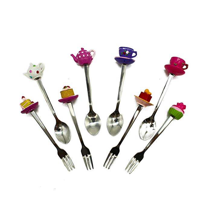 Tea Party Decorations | Stainless Steel Spoon and Fork Set