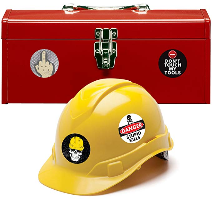 Hard Hat & Tool Box Stickers (Set of 22)