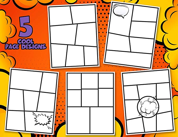 Blank Comic Books for Kids (Set of 2)