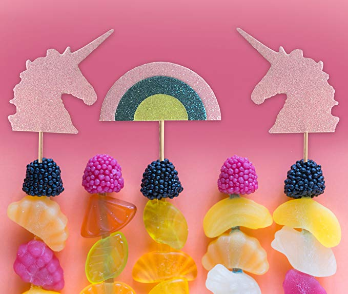 Unicorn & Rainbow Cupcake Topper