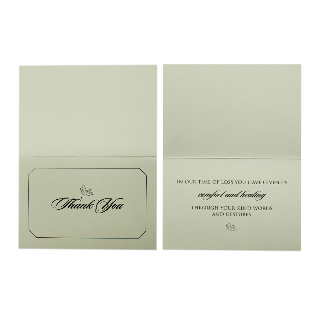 Funeral Sympathy Thank You Cards | Set of 25