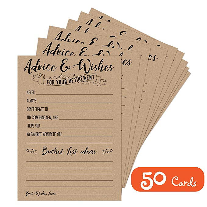Retirement Advice & Wishes Cards (50 Pack)
