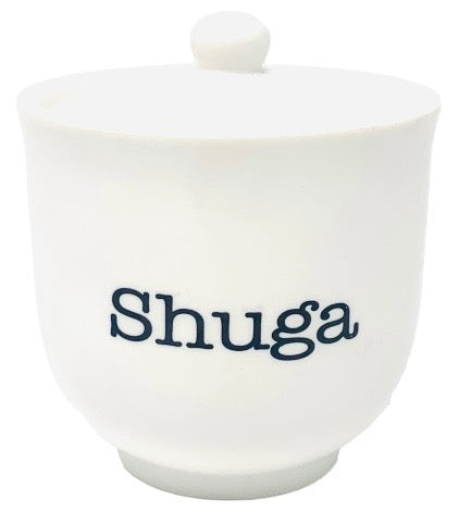 "Sugar Bowl | Cute Ceramic ""Shuga"" Dish with Lid 