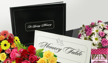 The Cherished Company Memorial Guest Book | Funeral Guest Book | White Memory Table Sign Included