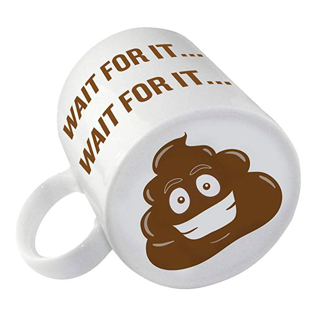 Wait for It Coffee Mug with Poop Emoji