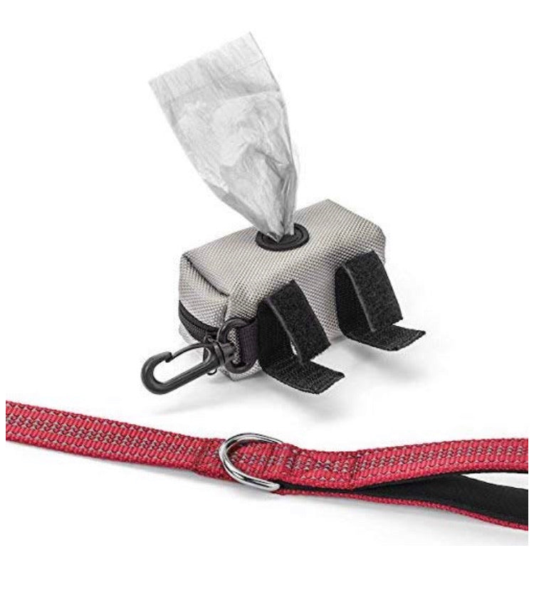 Heavy Duty Dog Leash | Bonus! Attachable Dog Poop Bag Holder and Roll of Bags