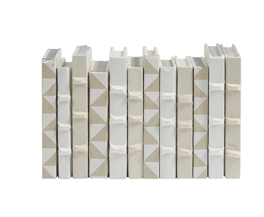 Collection of Tiny White Geometric Books