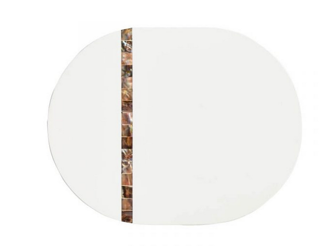 White Lacquer Shell Placemats