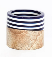 Load image into Gallery viewer, Wood & Stripes Napkin Rings