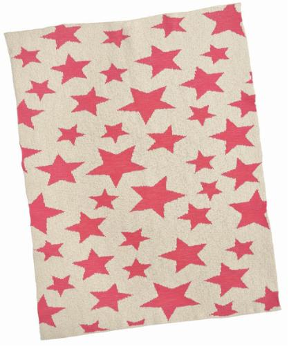 Hot Pink Multi Star Baby Blanket