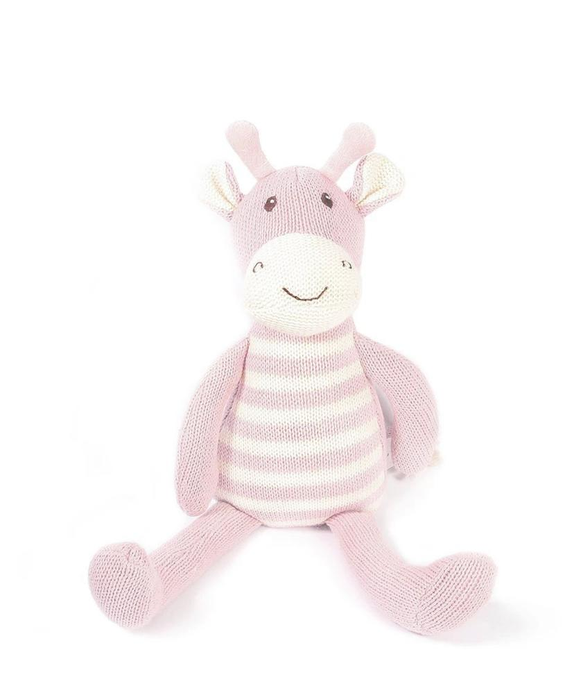 Giraffe Knit Plush Toy