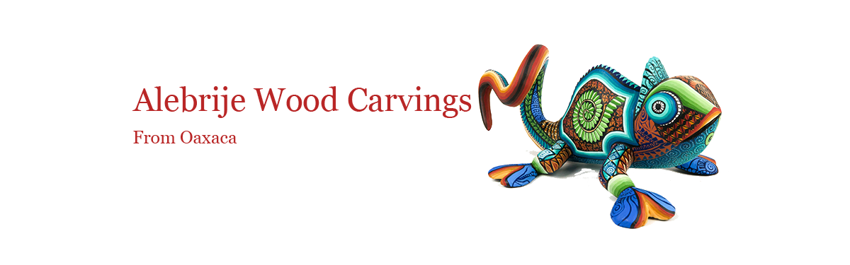 Oaxacan Alebrije Wood Carving Sculptures For Sale