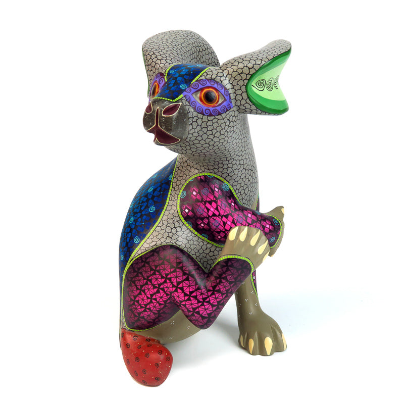 Fantastic Rabbit - Oaxacan Alebrije Wood Carving - VivaMexico.com