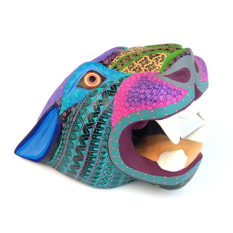 Large Jaguar Head - Oaxacan Alebrije Wood Carving
